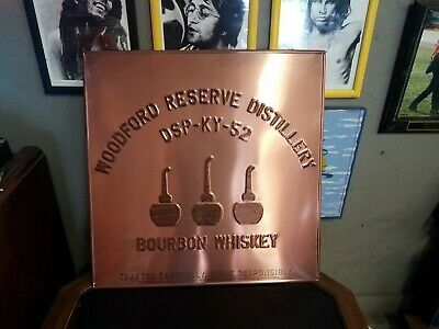 """Rare New Woodford Reserve Distillery DSP-KY-52 Bourbon Whiskey Copper Sign 23"""""""