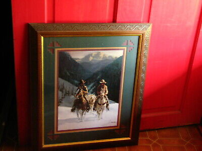 Collectible Home Interiors Gifts Framed Matted Picture