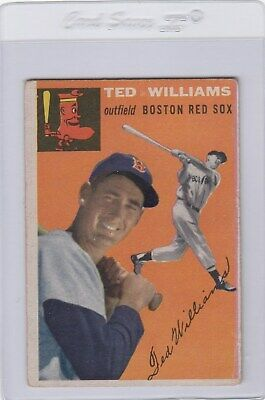 1954 54 Topps Ted Williams Boston Red Sox Hall Of Fame Hof Card #1 Bv$800