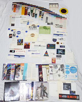 Over 110 Vintage Star Wars Fan Club Bantha Tracks Photos Stickers Papers Etc.