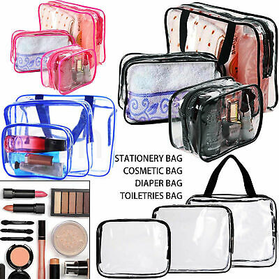 3Pcs Waterproof Cosmetic Holder Makeup Pouch Kit Travel Wash Bag Toiletry V6P3H