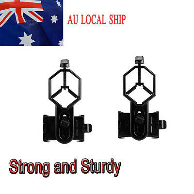 2PCS Universal Cell Phone Mount AdapterFOR Monocular Telescope Spotting Scope AU