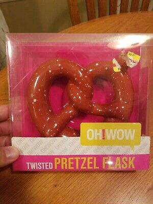 Oh! Wow Twisted Pretzel Flask Cork Stopper Gag Gift Novelty Fun new in package