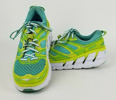 c508ed69e27c8 Hoka One One Conquest Running Shoes | Blue & Yellow | Women's Size 8.5