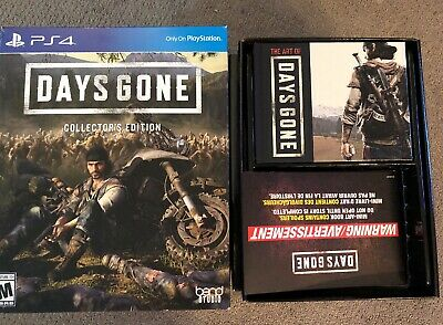 Days Gone PS4 Collector's Edition No Game No Steelbook Statue Art Book New
