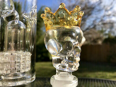 14mm or 18mm King Skull Male Glass Slide Party Bowl