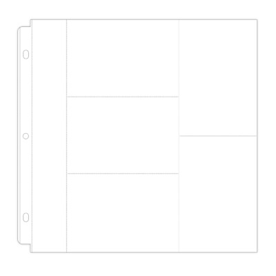 NEW Poppy Crafts - 6 Pocket Page Protectors - 50 pack 12 inch x 12 inch