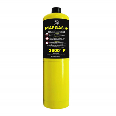 Map Gas Plus Cylinder, Yellow, 453 g
