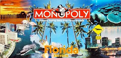 Florida Edition Monopoly Board Game Usaopoly USA Sunshine State 1998 NEVER USED