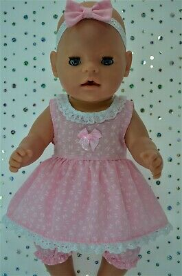 "Play n Wear Dolls Clothes For 17"" Baby Born BUTTERFLY DRESS~BLOOMERS~HEADBAND"