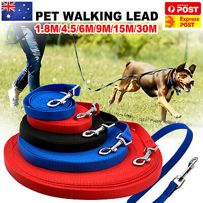 1.8/6/9/15/30M Long Dog Pet Puppy Training Obedience Recall Lead Leash Walk