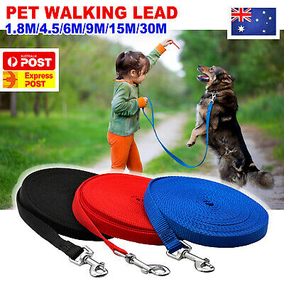 1.8/6/9/15/30M Long Pet Dog Puppy Training Obedience Recall Lead Leash Walk