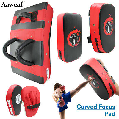 Strike Shield Kick Pads Boxing Curved Focus Mitts MMA Muay Thai Punch Bags