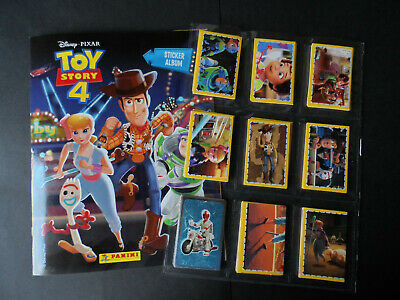 Panini Toy Story 4 Complete 216 Sticker Set & Album And 50 Card Set.