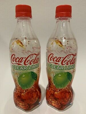 Coca Cola Clear Lime 2019 Limited Edition Japanese Soda Bottles *2 Bottles