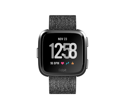 Fitbit - Versa Smart Watch - PEBBLE ONLY [BLACK/ROSE GOLD]