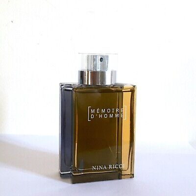 MEMOIRE D'HOMME NINA RICCI 100ml Eau de Toilette Spray Descatalogado