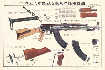 *Color Training POSTER Chinese Type 56 Kalashnikov rifle China 7.62x39 BUY NOW!