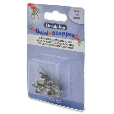 Beadalon® Bead Stoppers™ Clips Small Size 8 pieces Hold Beads in Place