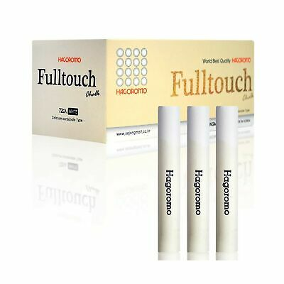 HAGOROMO Fulltouch Color Chalk 1 Box [72 Pcs/White] White WELL COATED  DUST FREE
