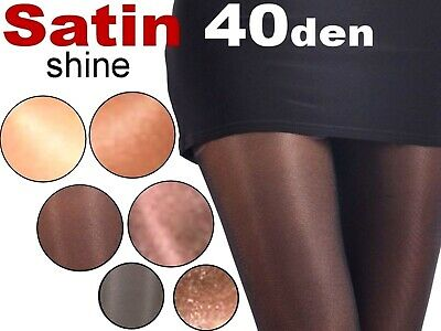 Satin High Gloss Tights 40 Den Glanz&glatt Colors Brilliant Shiny S-XL
