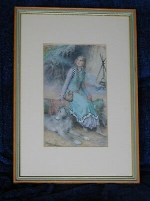 The Sea Hath Its Pearls William H Margetson Art Print Poster 27x29.5