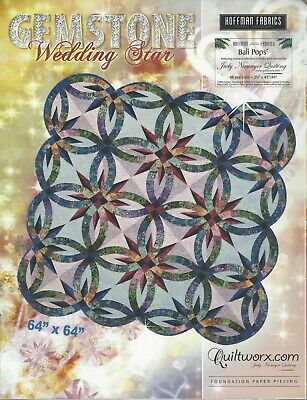 Gemstone Wedding Star Paper Piecing Pattern by Judy Niemeyer