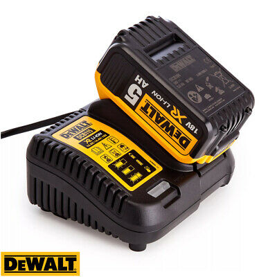 Dewalt DCB184 5.0ah 18v XR Lithium Ion Battery + DCB115 Charger