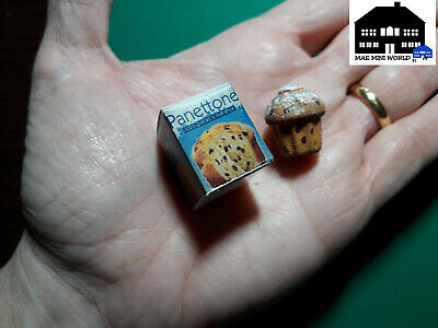 PANETTONE miniature with box. Dollhouse & Calico Critters scale 1:12