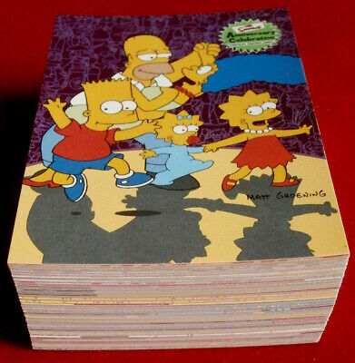 THE SIMPSONS 10th Anniversary - Complete Base Set (81 cards) INKWORKS 2000