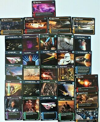 30 x STAR WARS TRADING GAME CARDS. UK DISPATCH