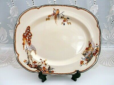 Woods Ivory Ware Rare Serving/Meat Platter  *The Gables*