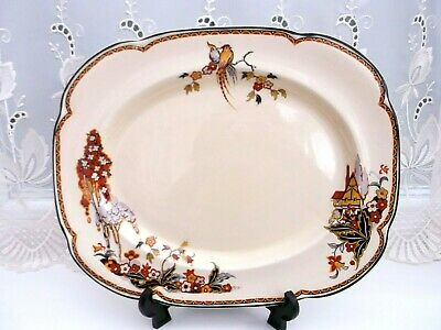 Woods Ivory Ware Rare    Serving/Meat Platter  **The Gables**