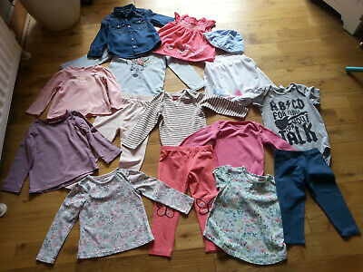 Baby Girls Clothes Bundle Leggings / Tops / Jackets 9-12, 12-18, 18-24, 2-3 Yrs