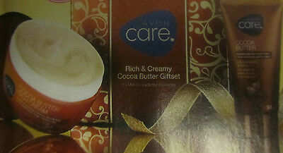AVON Care Rich & Creamy Cocoa Butter Gift Set ~ Cream 200ML & Hand Cream 50ML