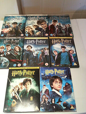 Harry Potter Complete Dvd X 8 Set Years 1-7 Film Movie Collection Bundle