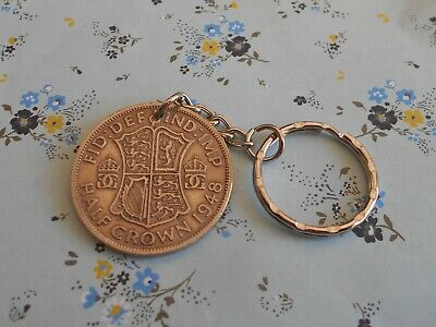 Half-Crown coin attached to a keychain  years 1948 to 1967