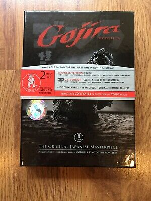 Gojira Godzilla 2 Disc Set Japanese and U.S. Version Remastered NM With Booklet