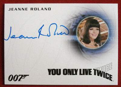 JAMES BOND - YOU ONLY LIVE TWICE - JEANNE ROLAND as Masseuse - AUTOGRAPH CARD