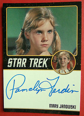 STAR TREK TOS 50th, PAMELYN FERDIN, Mary Janowski,  VERY LIMITED Autograph Card