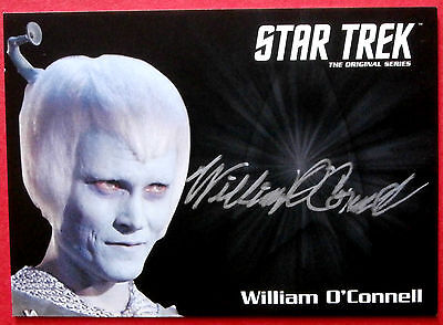 STAR TREK TOS 50th, WILLIAM O'CONNELL as Thelev, VERY LIMITED Autograph Card