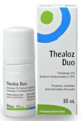 10 mL Thealoz Duo Eye Drops Spectrum Lubricates Dry Eyes Thea Preservative Free