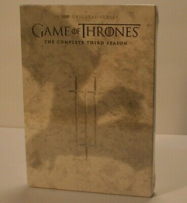 Game of Thrones Complete Third Season 3 DVD 5-Disc Set, Brand New Factory Sealed
