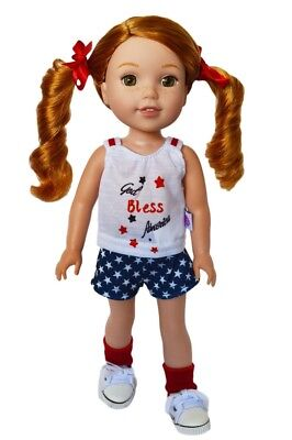 My Brittany's Patriotic Outfit for Wellie Wisher Dolls