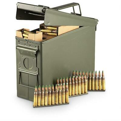 .30 Cal Metal Ammo Can Military Steel Box Shotgun Rifle Nerf Gun Ammo Storage