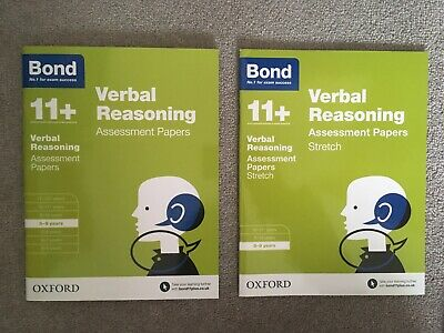 Bond 11+ Plus 8-9 Year Verbal Reasoning Assessment Papers and Stretch (2 Books)