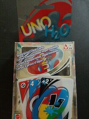 Uno H2O Uno card game New. Uno for the pool. Water proof