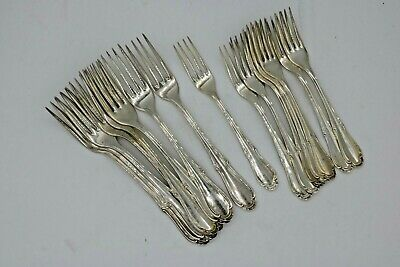 """16 Sterling Silver  Dinner &  Luncheon Forks 6.5 & &7.5"""" 8 of each """"GR"""" Marked"""