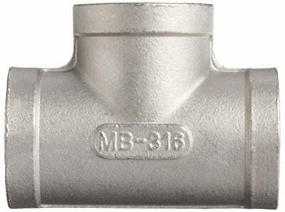 "Merit Brass 3/4"" Stainless Steel 316 Cast Pipe Fitting Tee, Class 150 NPT FEMALE"