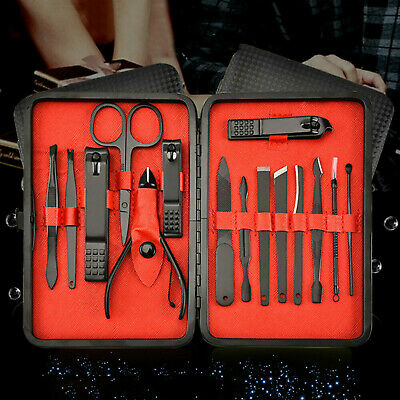 15Pcs Manicure Pedicure Kit Nail Clippers Callus Remover Hand Foot Care Tool